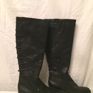 Rampage black knee high flat boots size 7